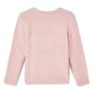 NWT George Toddler Girls Hearts Eyelash Sweater 5T